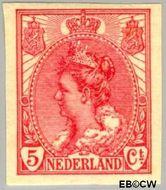 Nederland NL 82  1923 Koningin Wilhelmina- 'Bontkraag' ongetand 5 cent  Gestempeld