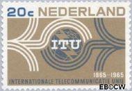 Nederland NL 840  1965  I.T.U. 20 cent  Gestempeld