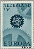 Nederland NL 884  1967 C.E.P.T.- Radarwerk 20 cent  Gestempeld