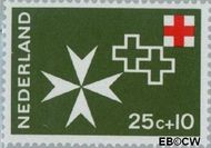 Nederland NL 892  1967 Rode Kruis 25+10 cent  Postfris