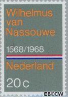 Nederland NL 908#  1968 Wilhelmus (Volkslied)  cent  Gestempeld