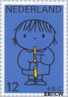 Nederland NL 932  1969 Kind en muziek 12+8 cent  Gestempeld