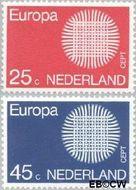 Nederland NL 971#972  1970 C.E.P.T.- Zon  cent  Gestempeld