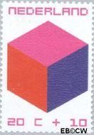 Nederland NL 980  1970 Kubus 20+10 cent  Gestempeld