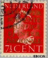 Nederland NL D16  1940 Cour Permanente de Justice 7½ cent  Gestempeld
