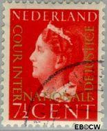 Nederland NL D20  1947 Cour Internationale de Justice 7½ cent  Gestempeld