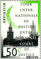 Nederland NL D47  1989 Cour Internationale de Justice 50 cent  Gestempeld