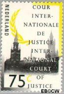 Nederland NL D52  1989 Cour Internationale de Justice 75 cent  Gestempeld