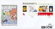 Nederland NL E364  1997 Strippostzegels Suske en Wiske  cent  FDC zonder adres