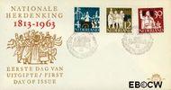 Nederland NL E61  1963 Onafhankelijkheid   cent  FDC zonder adres