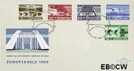 Nederland NL E89  1968 Bruggen  cent  FDC zonder adres