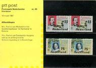 Nederland NL M45  1987 Sterfdagen  cent  Postfris