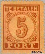 Nederland NL P1  1870 Portzegel 5 cent  Gestempeld