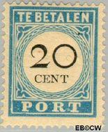 Nederland NL P10  1881 Portzegel 20 cent  Gestempeld