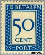Nederland NL P100  1947 Portzegel 50 cent  Gestempeld