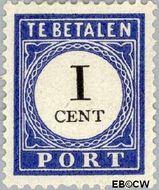Nederland NL P14  1894 Portzegel 1 cent  Gestempeld