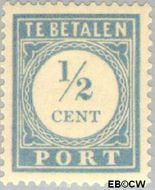 Nederland NL P44  1912 Portzegel ½ cent  Gestempeld