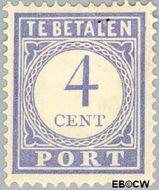 Nederland NL P49  1912 Portzegel 4 cent  Gestempeld