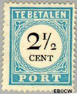 Nederland NL P5  1881 Portzegel 2½ cent  Gestempeld