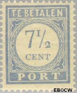 Nederland NL P54  1912 Portzegel 7½ cent  Gestempeld