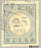 Nederland NL P59  1912 Portzegel 25 cent  Gestempeld