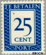 Nederland NL P95  1947 Portzegel 25 cent  Gestempeld