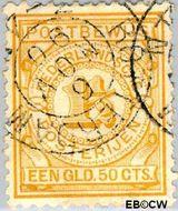 Nederland NL PW2  1884 Gebruik op postbewijsformulieren 150 cent  Gestempeld