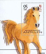 Nederlandse Antillen NA 1380  2002 Chinees Jaar van het Paard 55+25 cent  Postfris