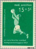 Nederlandse Antillen NA 267  1957 Voetbalkampioenschappen 15+5 cent  Gestempeld
