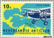 Nederlandse Antillen NA 307  1959 Luchtverbinding Nederland 10 cent  Gestempeld