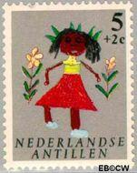 Nederlandse Antillen NA 338  1963 Kindertekeningen 5+2 cent  Gestempeld