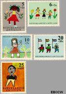 Nederlandse Antillen NA 338#342  1963 Kindertekeningen  cent  Gestempeld