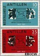 Nederlandse Antillen NA 414#415  1969 I.A.O.  cent  Gestempeld