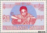 Nederlandse Antillen NA 418  1969 Kind en muziek 20+10 cent  Gestempeld