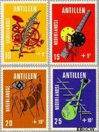 Nederlandse Antillen NA 426#429  1970 Media  cent  Gestempeld