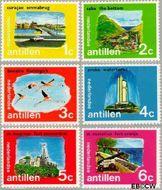 Nederlandse Antillen NA 445#450  1972 Eilanden 15+7 cent  Postfris