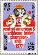 Nederlandse Antillen NA 538  1977 Bridge-toernooi Aruba 25+12 cent  Gestempeld