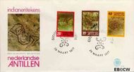 Nederlandse Antillen NA E101  1977 Rotstekeningen 35 cent  FDC zonder adres