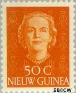 Nieuw-Guinea NG 16  1950 Type 'En Face' 50 cent  Gestempeld