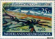 Nieuw-Guinea NG 76  1962 Zuid Pacific Conferentie 25 cent  Gestempeld