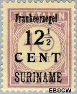 Suriname SU 117  1926 Hulpuitgifte 12½ op 40 cent  Gestempeld