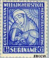 Suriname SU 137  1928 Van Heemstra stichting 1½+1½ cent  Gestempeld