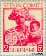 Suriname SU 147  1931 Steuncomité 2+2 cent  Gestempeld