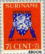 Suriname SU 197  1941 Vrij Nederland 7½+7½ cent  Gestempeld