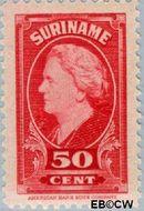 Suriname SU 237  1945 Koningin Wilhelmina 50 cent  Gestempeld