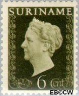 Suriname SU 258  1948 Koningin Wilhelmina 6 cent  Gestempeld