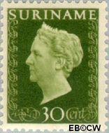Suriname SU 268  1948 Koningin Wilhelmina 30 cent  Gestempeld