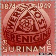 Suriname SU 278  1949 U.P.U. 7½ cent  Gestempeld