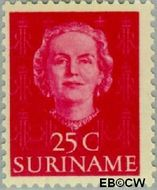 Suriname SU 288  1951 Type 'En Profile' 25 cent  Gestempeld