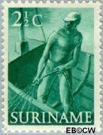 Suriname SU 298  1953 Inheemse voorstellingen 2½ cent  Gestempeld